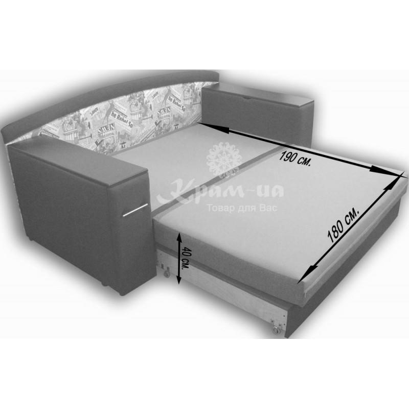 Тахта 180 см. шириною спального місця+СТОЛИК-БАР+НІША