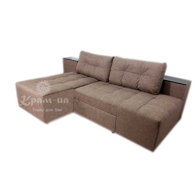 Диван - ліжко  трансформер  з нішами для білизни, в тумбочках вертикального завантаження
